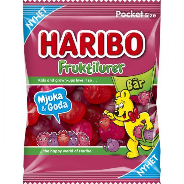 Kop Haribo Fruktilurer Bar 80g Hos Coopers Candy