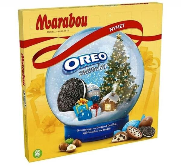 Kop Marabou Oreo Adventskalender 286g Hos Coopers Candy