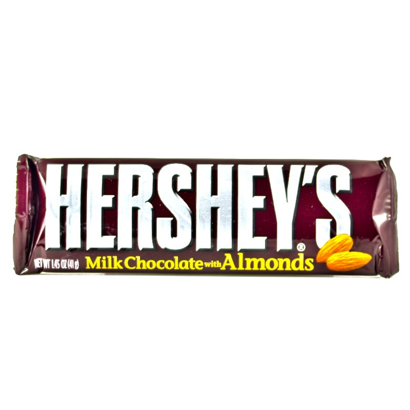 Bild av Hersheys Milk Chocolate Bar with Almonds 41gram