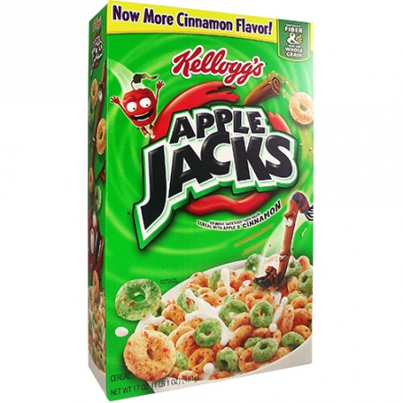 Kelloggs Apple Jacks 481gram