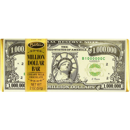 Bartons Million Dollar Creamy Milk Chocolate Bar 57g
