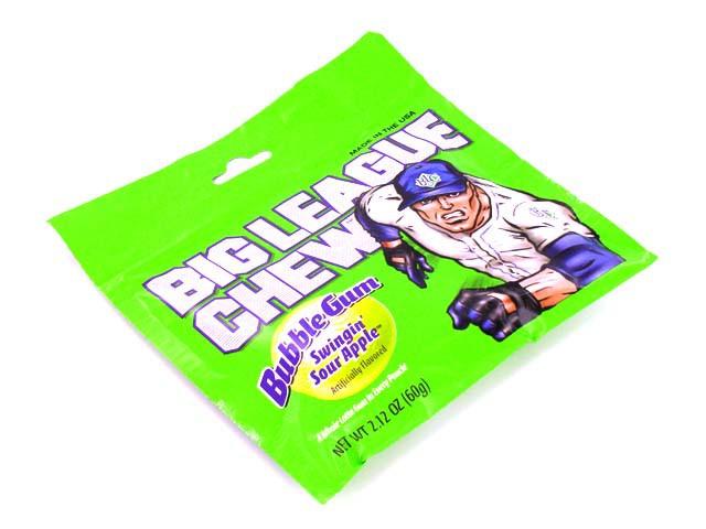 Big League Chew Bubble Gum Sour Apple 60g