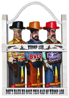 Whoop Ass Hot Sauce Wooden Crate Gift Set