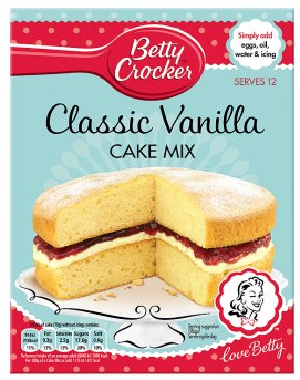 Betty Crocker Velvety Vanilla Cake Mix EU 425g