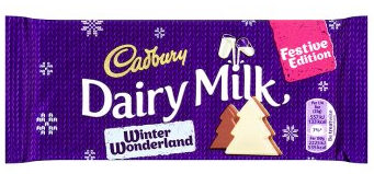 Bild av Cadbury Dairy Milk Winter Wonderland Chocolate Bar 100g