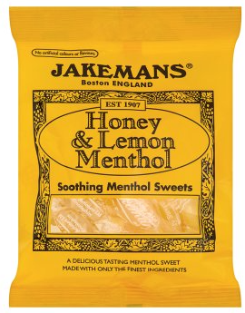 Jakemans Honey & Lemon Menthol Soothing Sweets 100g