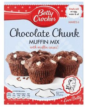 Betty Crocker Chocolate Chunk Muffin Mix 335g