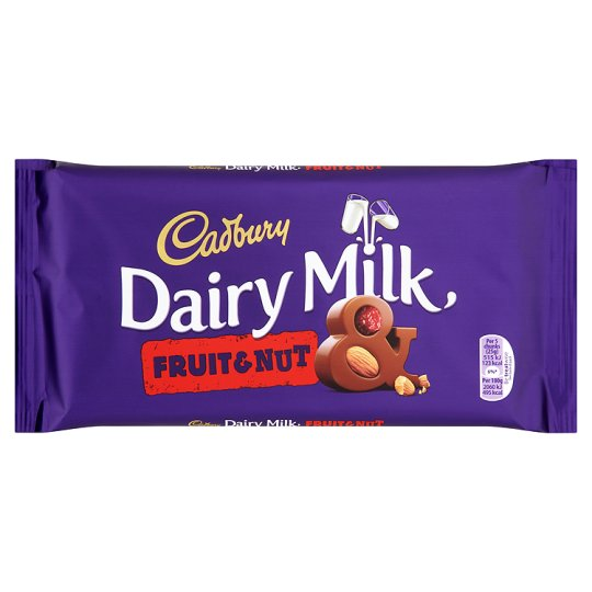 Cadbury Dairy Milk Fruit & Nut Chocolate Bar 95g