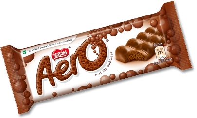 Aero Bubbly Milk Choc Bar 36g