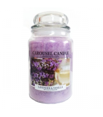 Carousel Candle - Lavender & Vanilla Large Jar