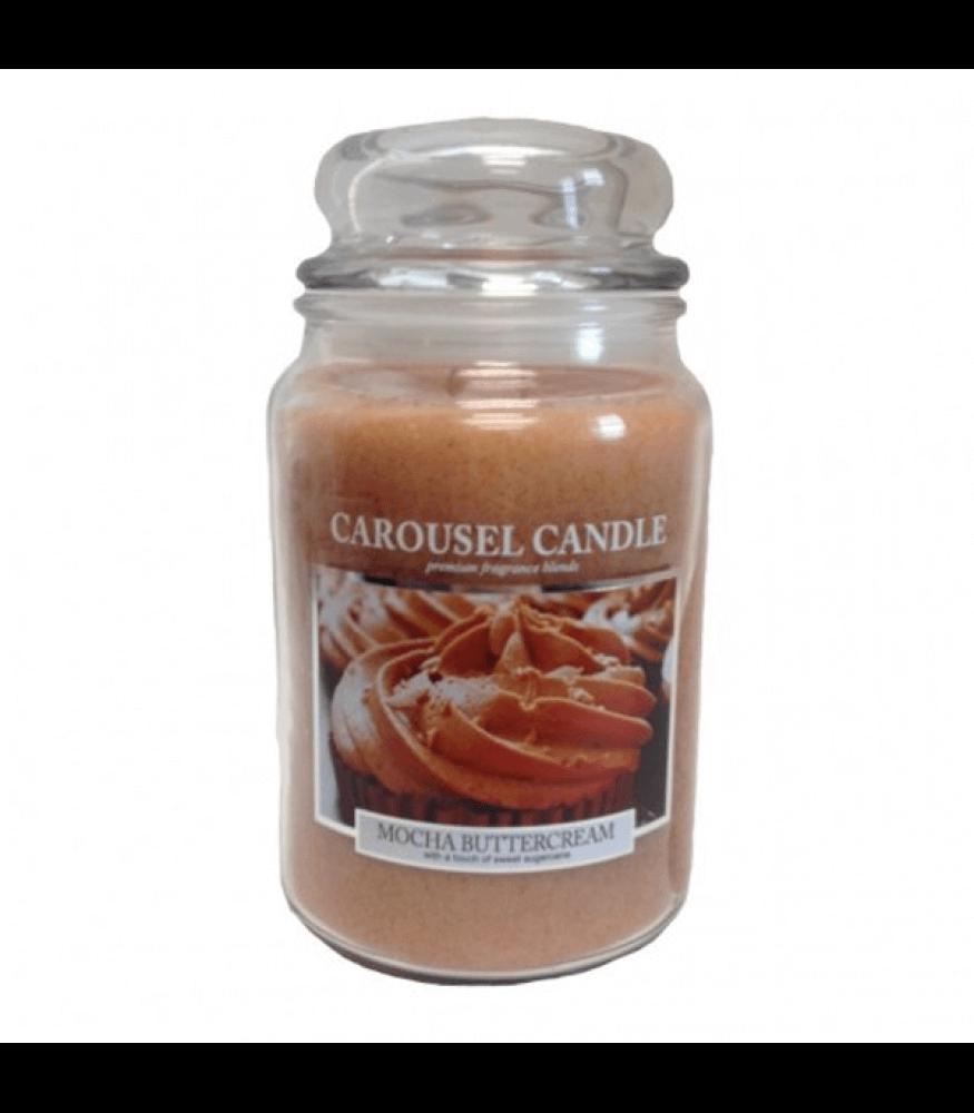 Carousel Candles - Mocha Buttercream Large Jar