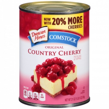 Duncan Hines Comstock Country Cherry Pie Filling & Topping 595g