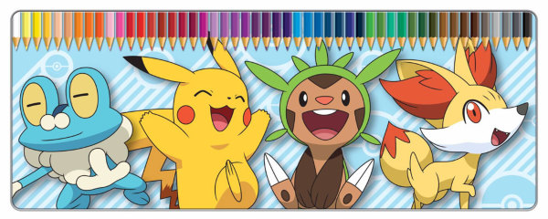Pokemon Colouring Pencils 50-Pack