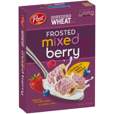 Post Shredded Wheat Frosted Berry Cereal 439g