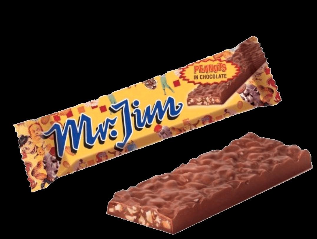 Bild av Mr. Jim Peanuts in Chocolate 40g