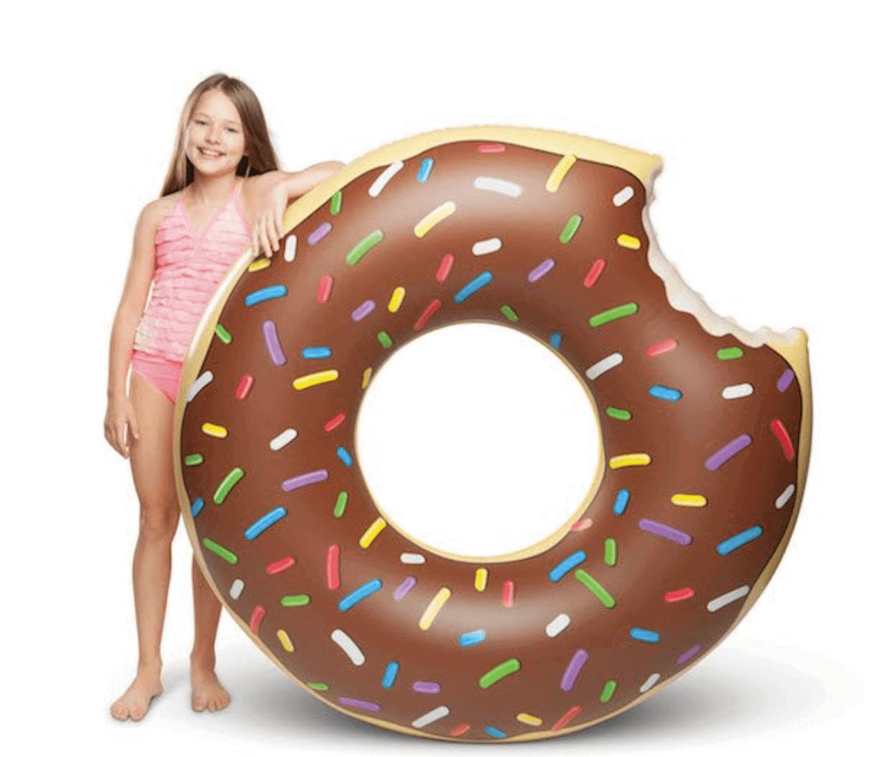 Gigantisk Badring - Chocolate Donut
