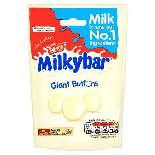 Bild av Nestle Milkybar White Chocolate Giant Buttons 103g