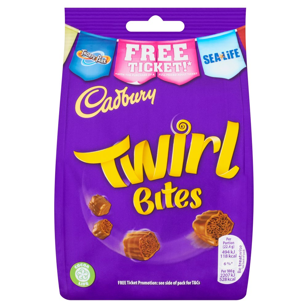 Bild av Cadbury Twirl Bites Chocolate Bag 95g