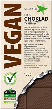 Vegan Ljus Choklad 100g