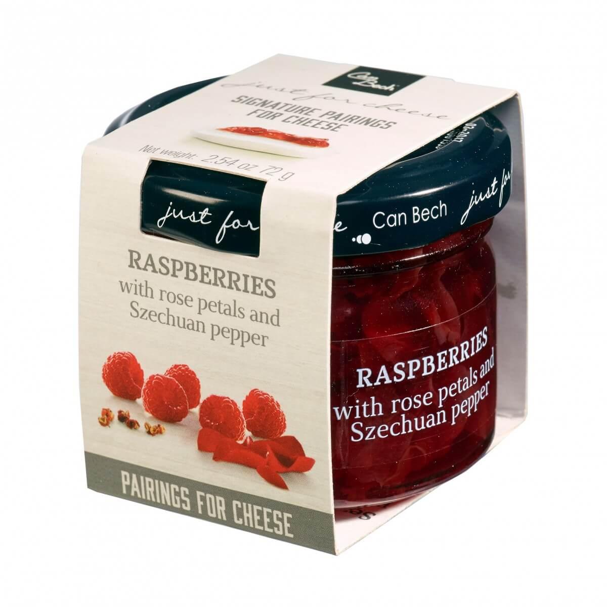 Marmelad Hallon, rosenblad, sechuan-peppar 72g