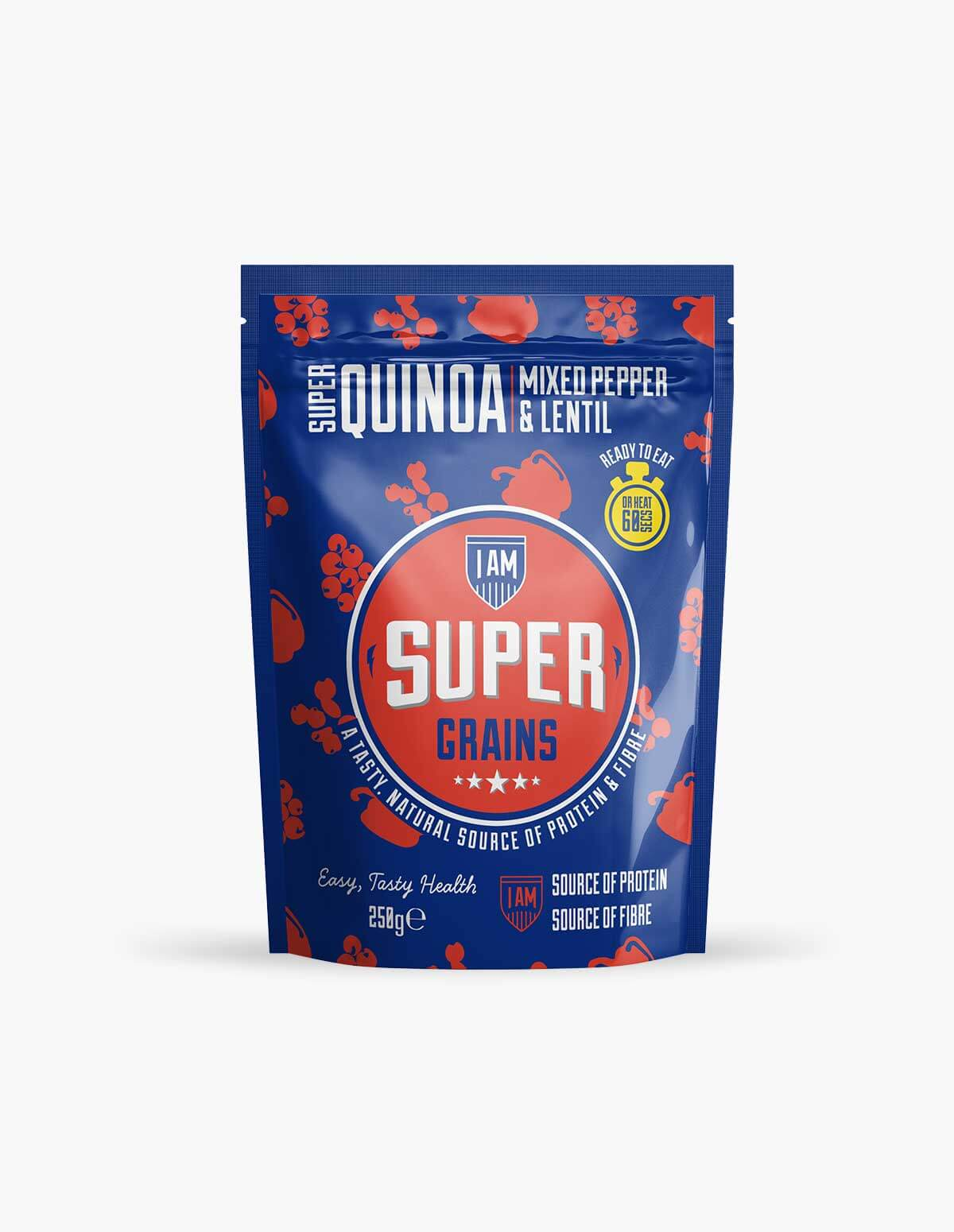 I Am Super Grains Super Quinoa Mixed Pepper & Lentil 250g