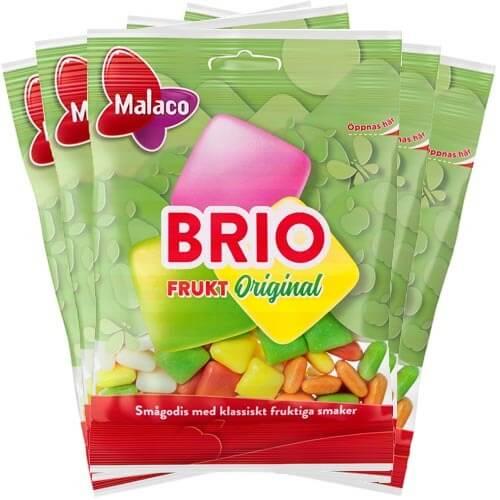 Malaco Brio Frukt Original 80g x 5st