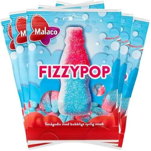 Malaco Fizzypop 80g x 5st