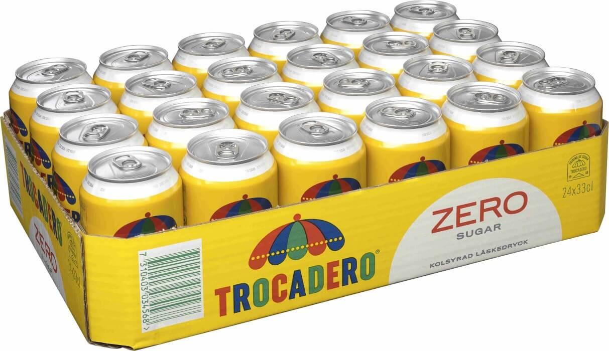 Trocadero Zero Sugar 33cl x 24st (HELT FLAK)