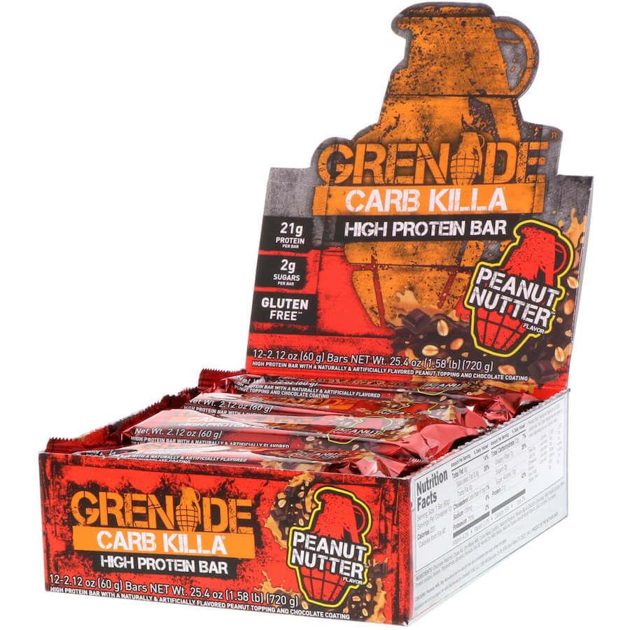 Grenade Carb Killa Peanut Nutter Bars 60g x 12st