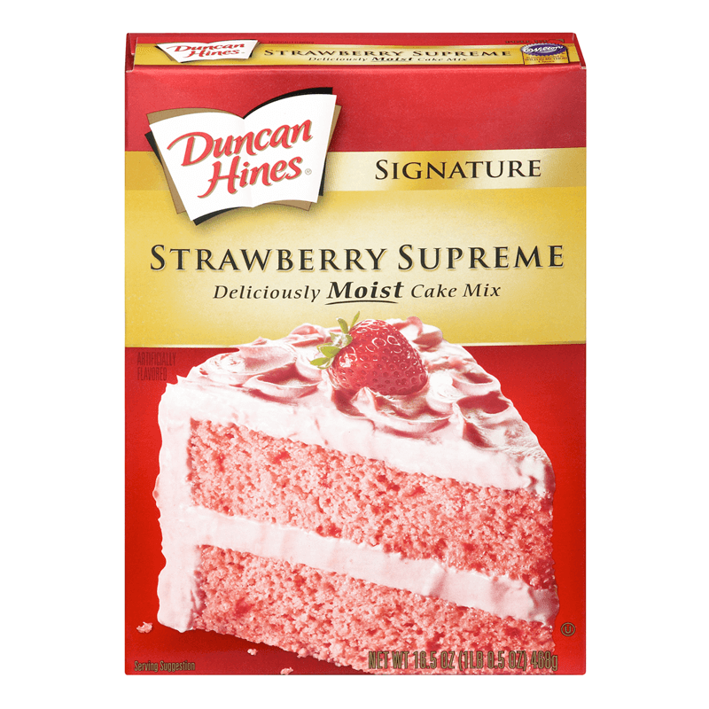 Duncan Hines Signature Strawberry Supreme Cake Mix 432