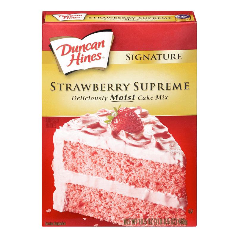 Duncan Hines Signature Strawberry Supreme Cake Mix 432