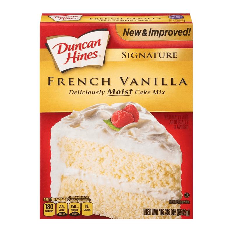 Duncan Hines Signature French Vanilla Cake Mix 432g