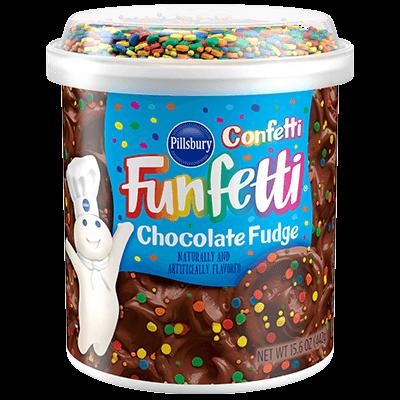Pillsbury Funfetti Chocolate Fudge Frosting 443g