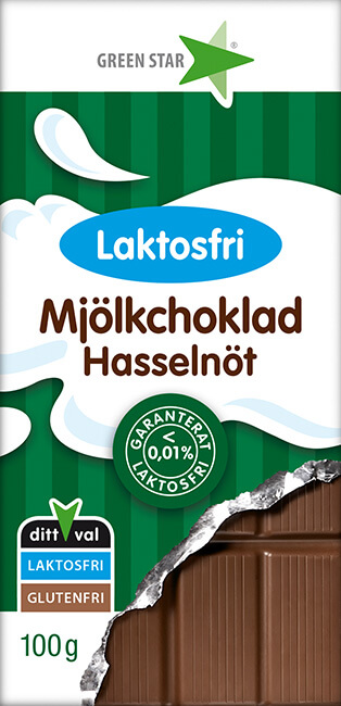 Mjölkchoklad Laktosfri Hasselnöt 100g