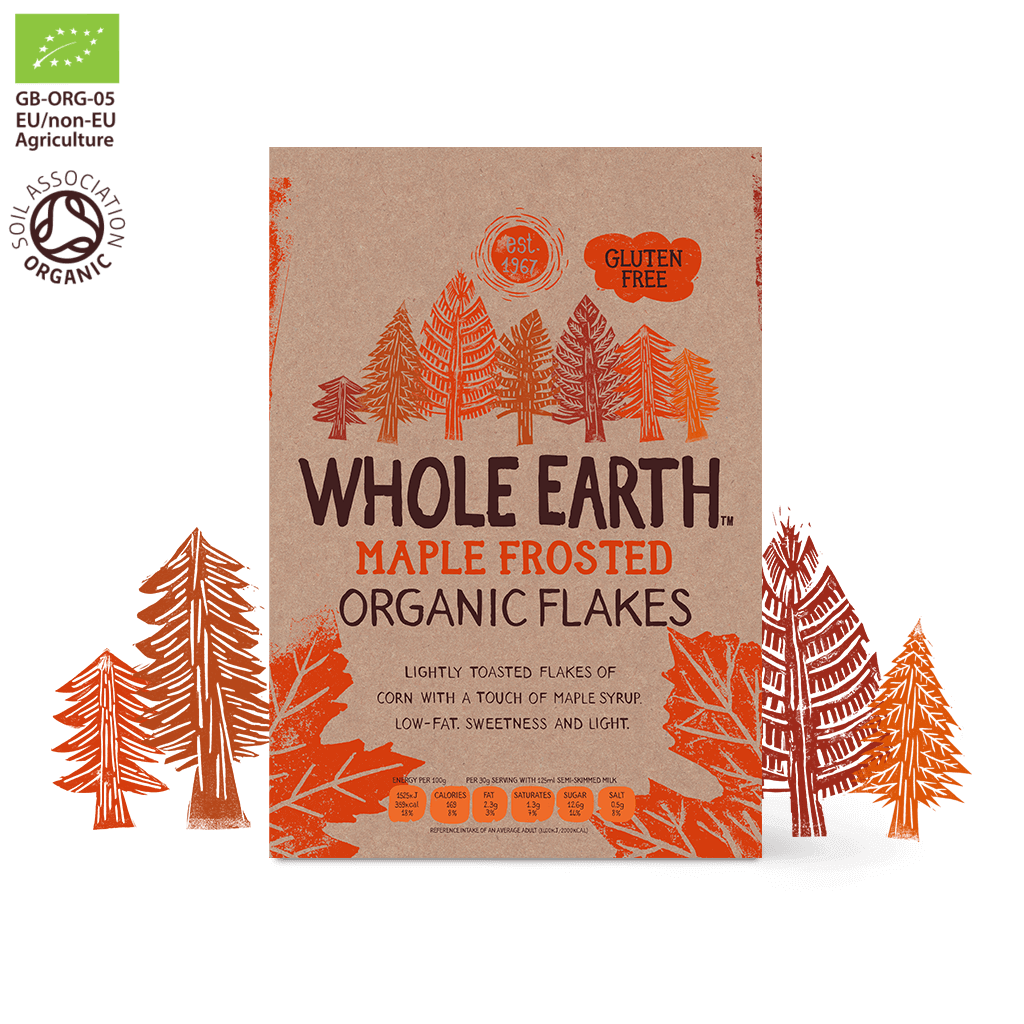 Whole Earth Maple Frosted Organic Flakes 375g