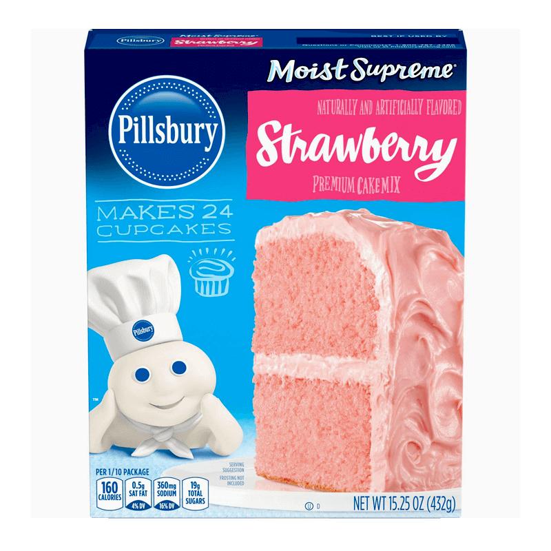 Pillsbury Moist Supreme Strawberry Cake Mix 432g