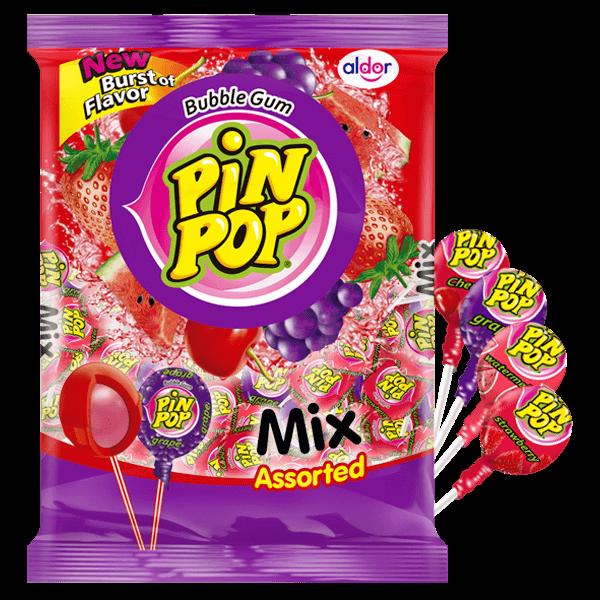 Pin Pop Klubbor Blandade 1,062k