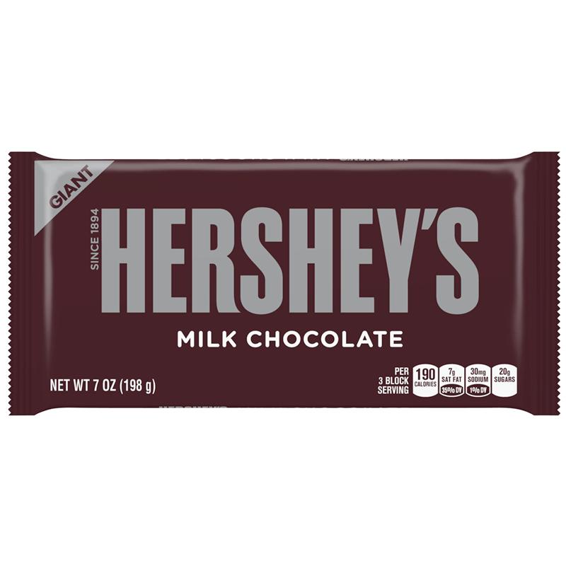 Bild av Hersheys Milk Chocolate Bar 184g