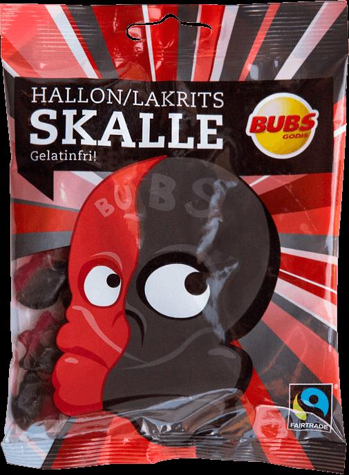 Bubs Hallon/Lakritsskalle 20g x 300st