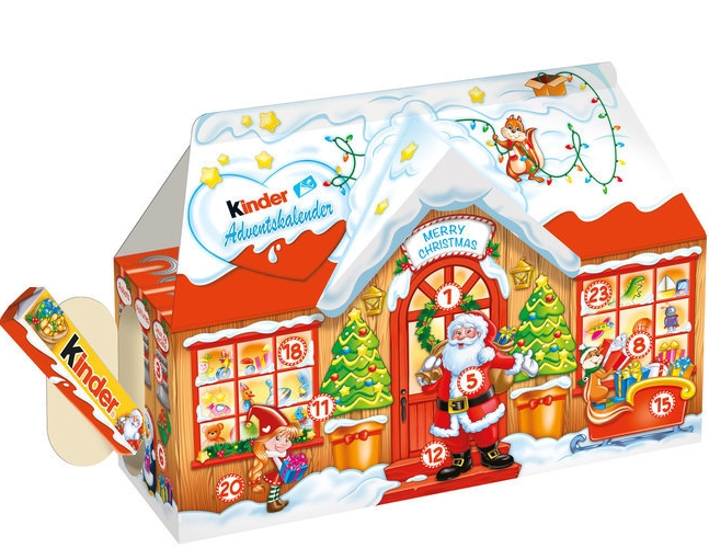 Kinder Adventskalender 3D Hus