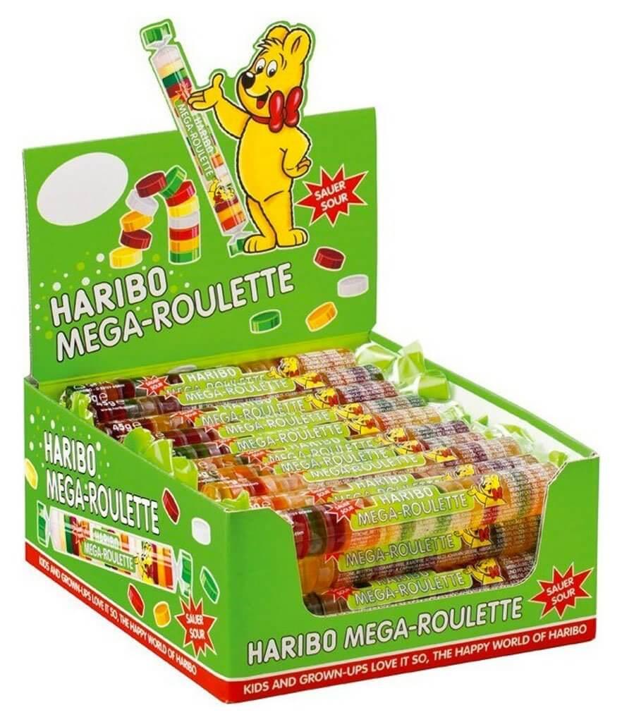 Haribo Mega Roulette Sour 45g x 40st