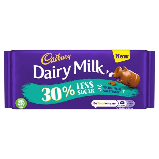 Bild av Cadbury Dairy Milk 30% Less Sugar 85g