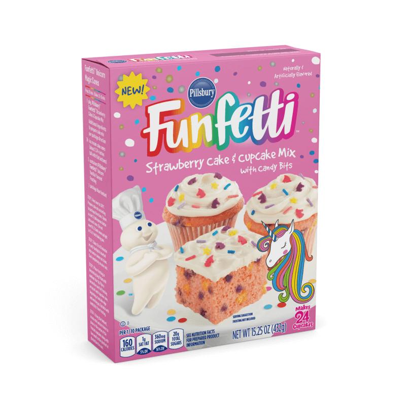 Pillsbury Funfetti Unicorn Strawberry Cake Mix 432g