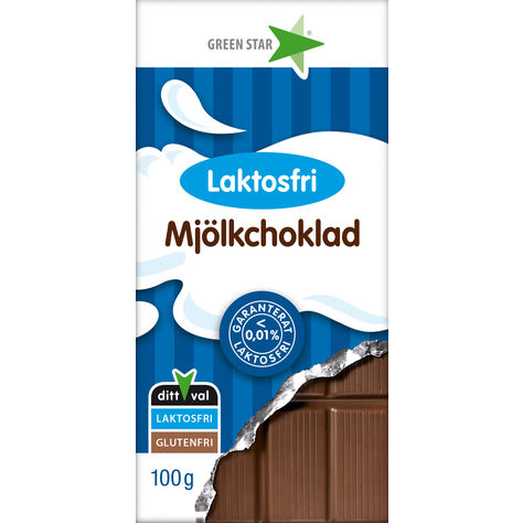 Bild av Green Star Mjölkchoklad Laktosfri 100g