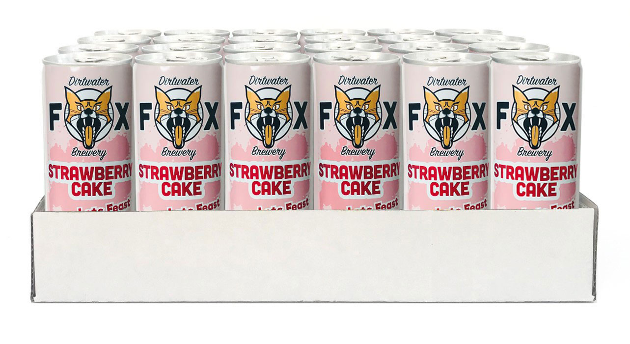 Dirtwater Fox Strawberry Cake - Lets Feast 25cl x 24st