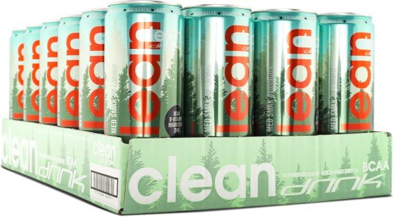 Clean Drink BCAA Lingon 33cl x 24st