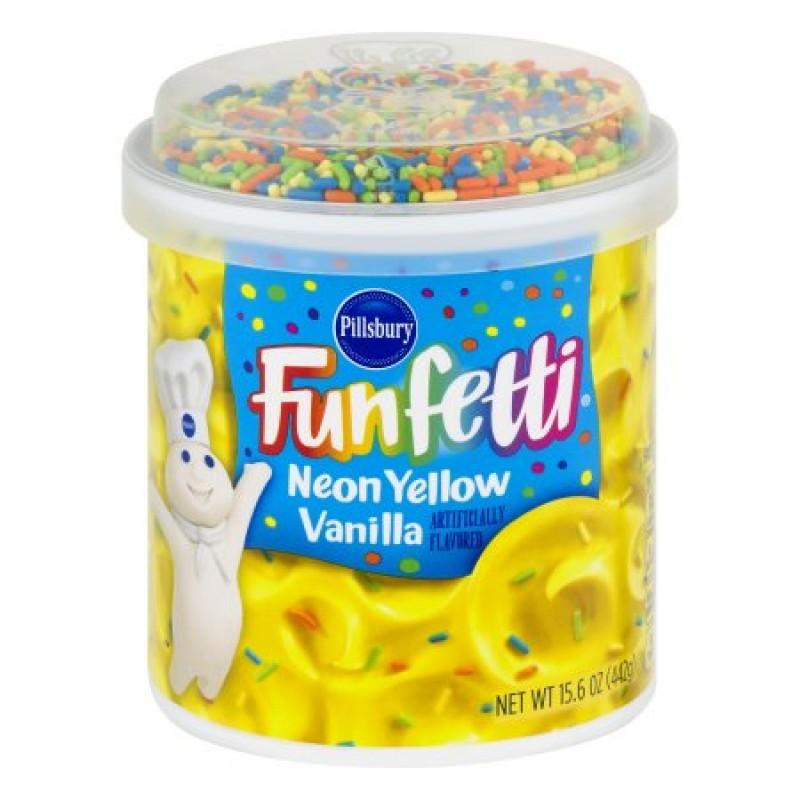 Pillsbury Funfetti Neon Yellow Vanilla Frosting 442g