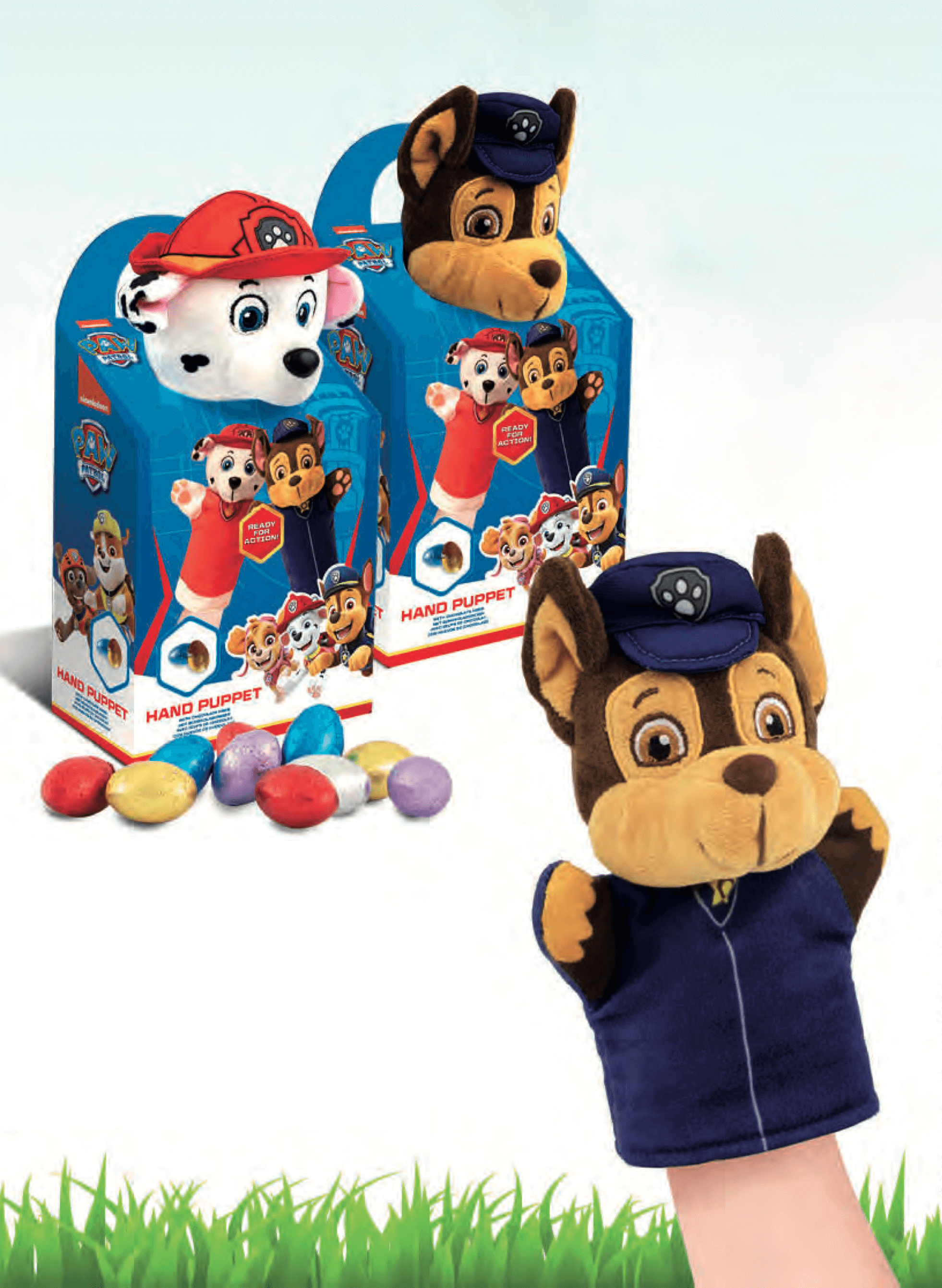 Paw Patrol Hand Puppet With Chocolate Eggs