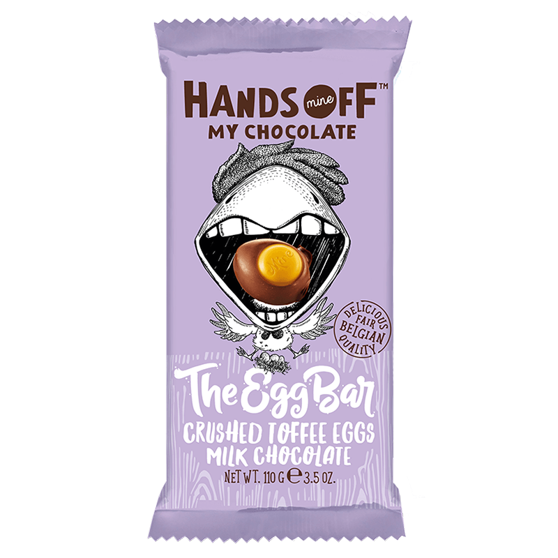 Bild av Hands Off My Chocolate - The Egg Bar Crushed Toffee Eggs Milk Chocolate 110g