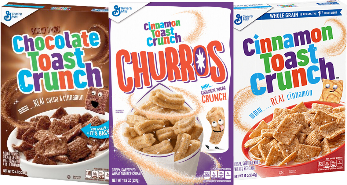 Cinnamon Toast Crunch Trio